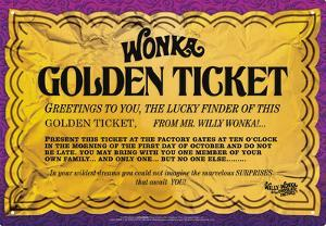 Willy Wonka - Golden Ticket