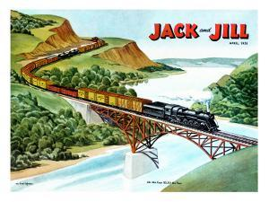 Cross-Country Rail - Jack and Jill, April 1951 by Wilmer Wickham