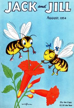 Honey Bee's Delight - Jack and Jill, August 1954 by Wilmer Wickham