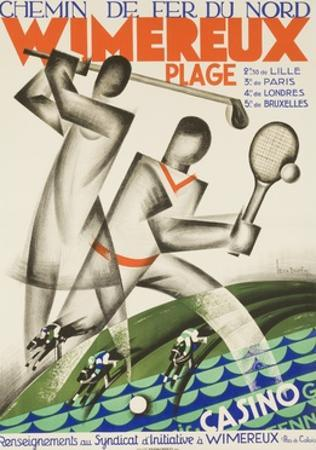 Wimereux Plage French Railroad Travel Poster