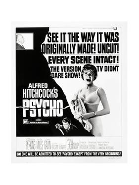 """Wimpy, 1960 """"Psycho"""" Directed by Alfred Hitchcock"""