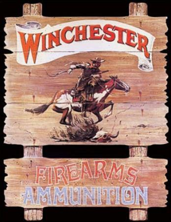 Winchester Firearms Ammunition Cowboy on Horse Rider
