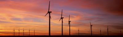 Wind Turbine in the Barren Landscape, Brazos, Texas, USA