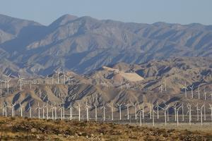 Wind Turbines and Mountains of Morongo Valley, San Gorgonio Pass, Palm Springs