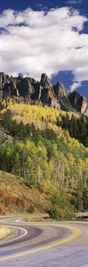 Winding Road Passing Through Mountains, Jackson Guard Station, Ridgway, Colorado, USA