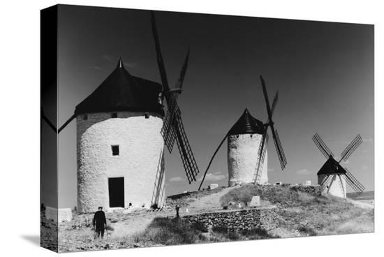 Windmills in Consuegra, Spain--Stretched Canvas Print