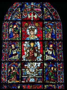 Window Depicting Notre Dame De La Belle Verriere in the South Choir (Detail)
