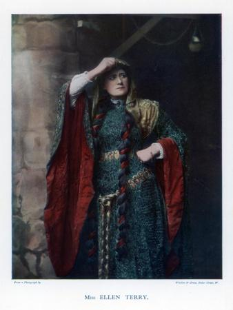 Dame Ellen Terry, English Stage Actress, 1901