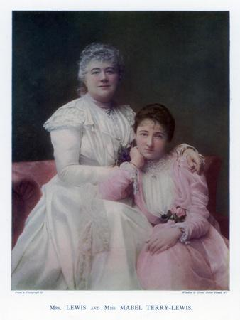 Mrs Lewis (Kate Terr) and Miss Mabel Terry-Lewis, British Actresses, 1901