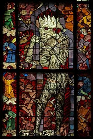 Window W16 Depicting a Scene from the Last Judgement: the Devil Attends