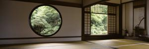Windows of a Temple, Genkoan Temple, Takasaki, Gunma Prefecture, Honshu, Japan