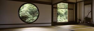 Windows of a Temple, Genkoan Temple, Takasaki, Gunma Prefecture, Honshu, Japan