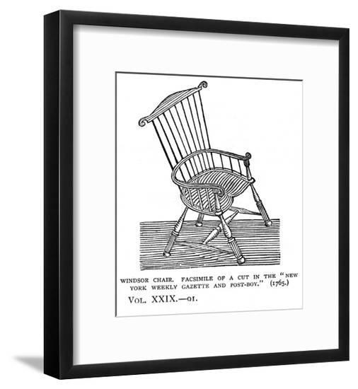 Windsor Chair C18--Framed Giclee Print
