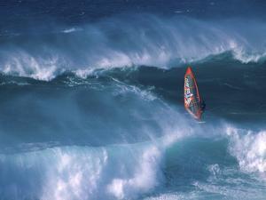 Windsurfer Among Waves