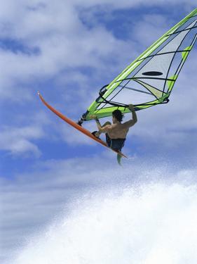 Windsurfer in Midair