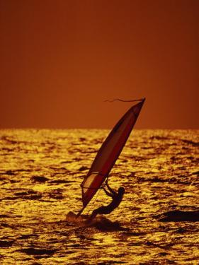 Windsurfer Silhouette