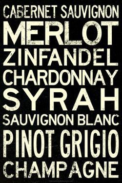 Wine Grape Types Art Print Poster