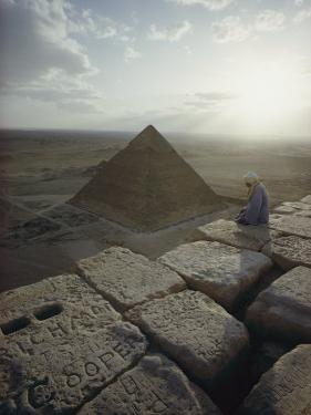 A View of the Pyramid of Chephren from the Pyramid of Giza by Winfield Parks