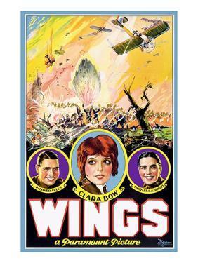 Wings, Richard Arlen, Clara Bow, Charles (Buddy) Rogers, 1927