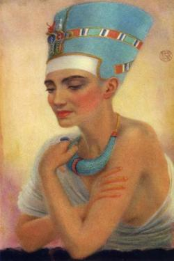 Nefertiti, Ancient Egyptian Queen of the 18th Dynasty, 14th Century BC by Winifred Mabel Brunton