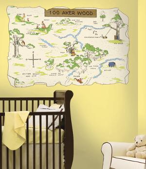 Winnie the Pooh - 100 Aker Wood Peel & Stick Map