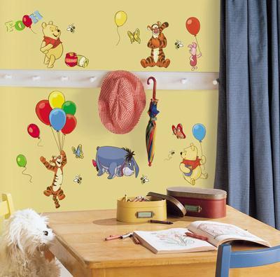 Winnie The Pooh   Pooh U0026 Friends Peel U0026 Stick Wall Decals