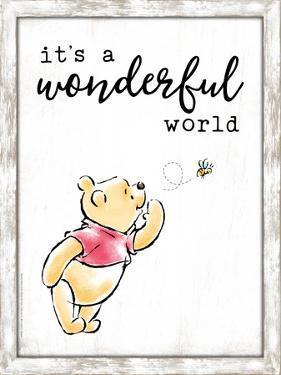 Winnie The Pooh Wood Framed MDF Sign