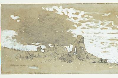 A Shepherdess, 1879 by Winslow Homer