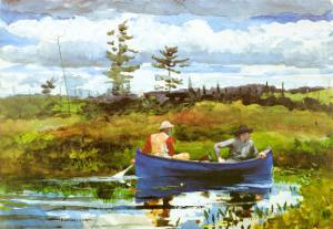 Blue Boat by Winslow Homer