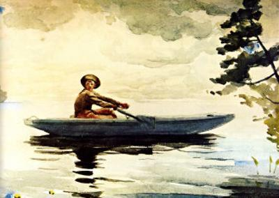 Boating in Adirondacks by Winslow Homer