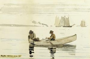 Boys Fishing, Gloucester Harbor, 1880 by Winslow Homer