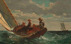 Breezing Up (A Fair Wind), 1873-1876 by Winslow Homer