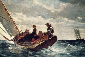 Breezing Up (A Fair Wind), 1876 by Winslow Homer