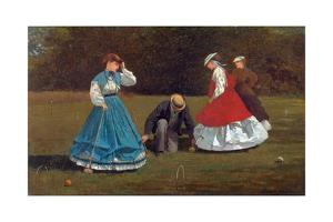 Croquet Scene by Winslow Homer