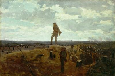 Defiance: Inviting a Shot before Petersburg, 1864 (Oil on Panel) by Winslow Homer