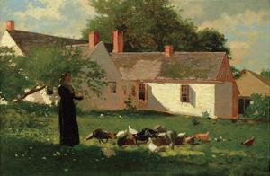 Farmyard Scene, c. 1874 by Winslow Homer