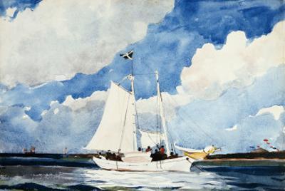 Fishing Schooner, Nassau by Winslow Homer