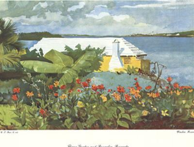 Flower Garden and Bungalow, Bermuda by Winslow Homer
