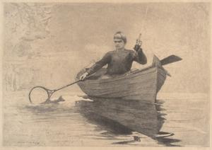 Fly Fishing, Saranac Lake, 1889 by Winslow Homer