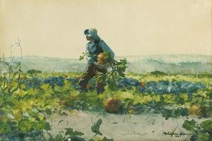 For to Be a Farmer's Boy, 1887 by Winslow Homer