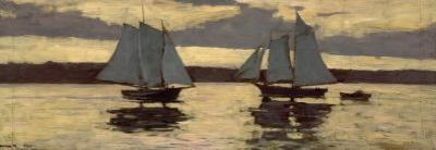 Gloucester, Mackerel Fleet at Sunset, c.1884 by Winslow Homer