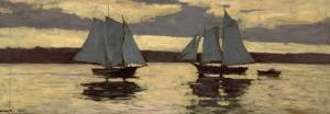 Gloucester, Mackerel Fleet at Sunset, c.1884 by Winslow Homer