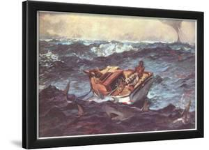 Winslow Homer (Gulf Stream) Art Poster Print