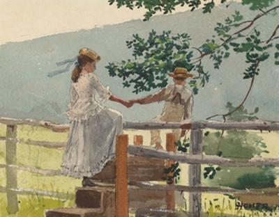 On the Stile, 1878 by Winslow Homer