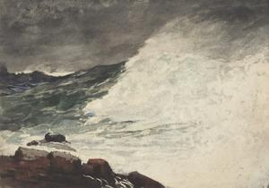 Prout's Neck, Breaking Wave, 1887 by Winslow Homer