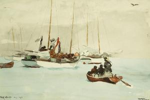 Schooners at Anchor, Key West, 1903 by Winslow Homer