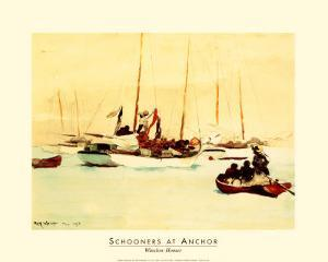 Schooners at Anchor by Winslow Homer