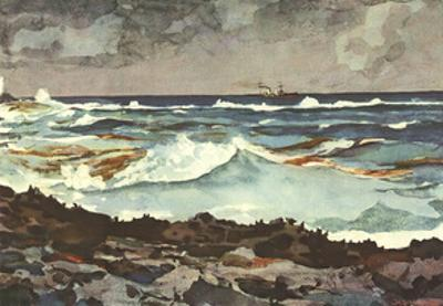 Shore and Surf, Nassau by Winslow Homer