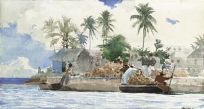 Sponge Fishermen, Bahamas by Winslow Homer