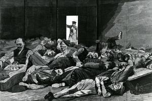 Station House Lodgers, Published in 'Harper's Weekly', 1874 by Winslow Homer